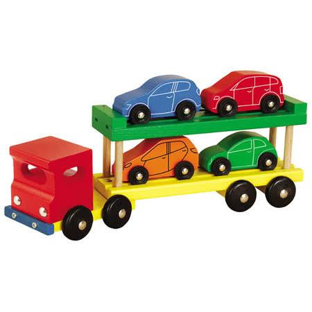 【德國HEROS木製積木】雙層拖車積木組 5pcs-27922