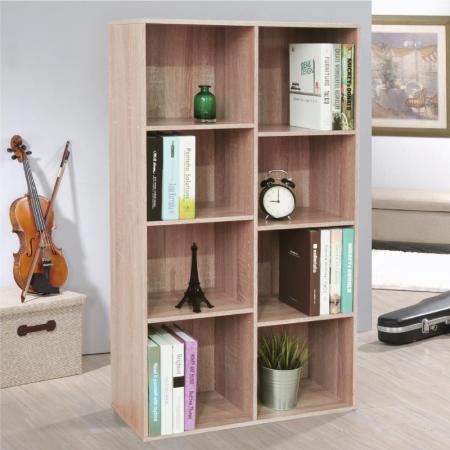 【Hopma】八格書櫃/收納櫃-三色可選