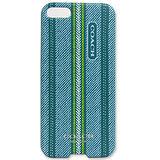 COACH 民俗風直紋iPhone5手機保護殼(藍綠)