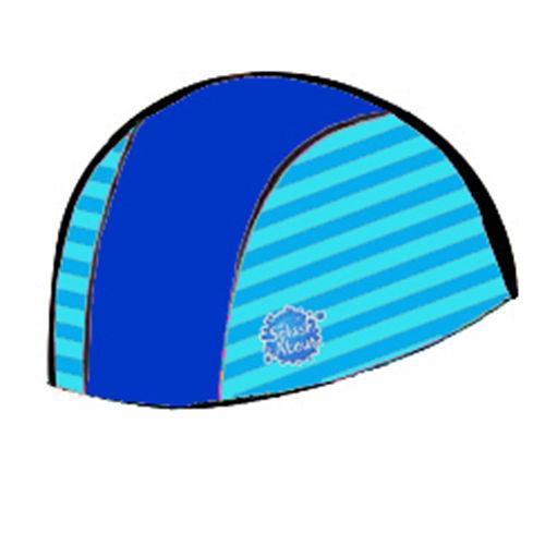 潑寶 Splash About ~ Swim Hat 抗UV泳帽~ 寶藍  珊瑚綠條紋