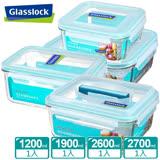 Glasslock強化玻璃微波保鮮盒 - 澎湃保鮮4件組