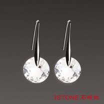 石頭記 精靈之舞-時尚白水晶耳環
