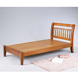 曼尼3.5尺單人加大實木單人床