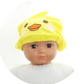 頭髮速乾吸水帽-黃鴨