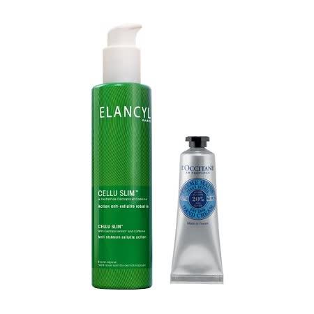ELANCYL 伊蘭纖姿 輕盈曲線精華 200ml+ L'Occitane 乳油木護手霜 30ml