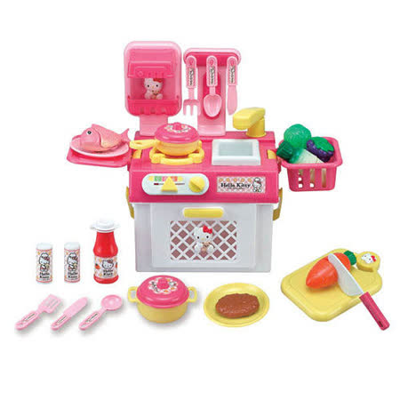 【Hello Kitty-家家酒系列】KT流理台瓦斯爐玩具組 KT2023