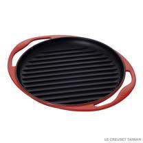 【LE CREUSET】鑄鐵雙耳圓烤盤 25cm (櫻桃紅)
