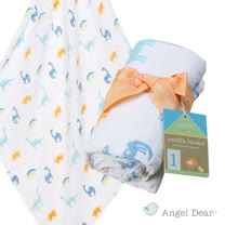 美國 ANGEL DEAR 竹纖維嬰幼兒包巾 (小恐龍)