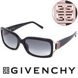 GIVENCHY 法國魅力紀梵希經典LOGO都會時尚太陽眼鏡(黑) GISGV777700X