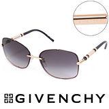 GIVENCHY 法國魅力紀梵希都會玩酷經典造型太陽眼鏡(金) GISGV4200300