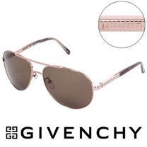 GIVENCHY 法國魅力紀梵希藝術幾何格紋美型經典飛行員太陽眼鏡(玳瑁) GISGV4560R80