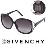 GIVENCHY 法國魅力紀梵希經典LOGO都會時尚太陽眼鏡(黑) GISGV7620700