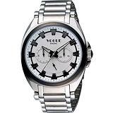 VOGUE 嶄新系列日曆時尚腕錶-銀 9V0434SS