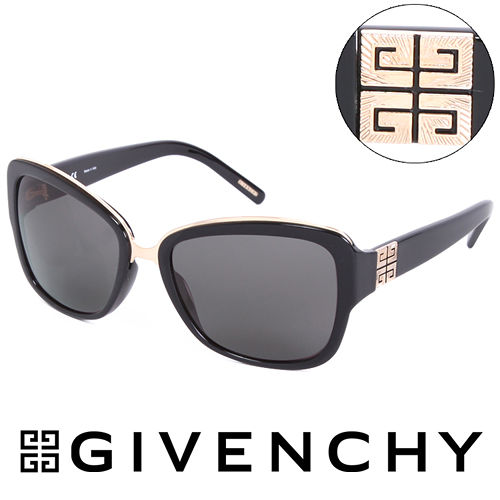 GIVENCHY 法國魅力紀梵希都會玩酷 太陽眼鏡 黑  GISGV8270700