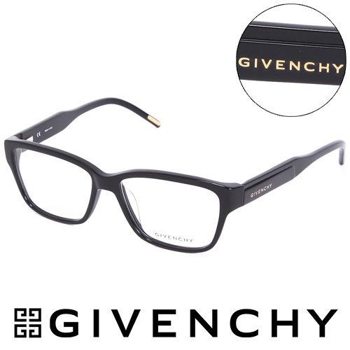 GIVENCHY 魅力紀凡希都會玩酷潮框平光眼鏡 黑  GIVGV7970700