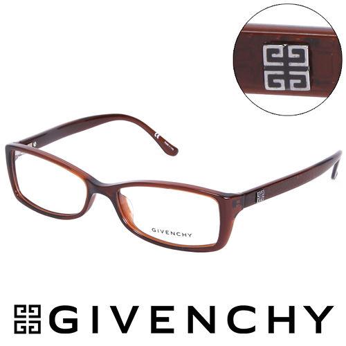 GIVENCHY 法國魅力紀梵希 北非狩獵豹紋風格 平光眼鏡 棕  GIVGV744095