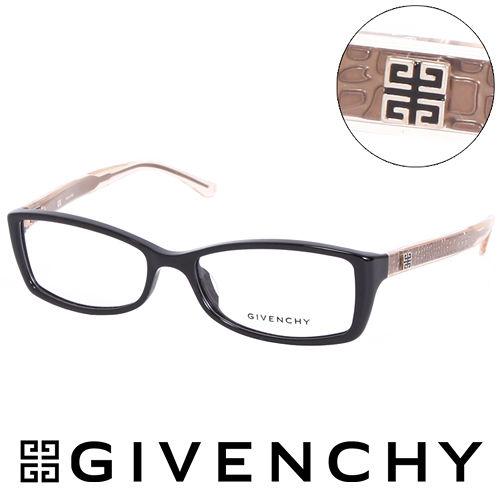 GIVENCHY 法國魅力紀梵希 北非狩獵豹紋風格 平光眼鏡 黑  GIVGV744070