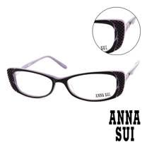 Anna Sui 日本安娜蘇 時尚立體精雕造型平光眼鏡(紫) AS10402