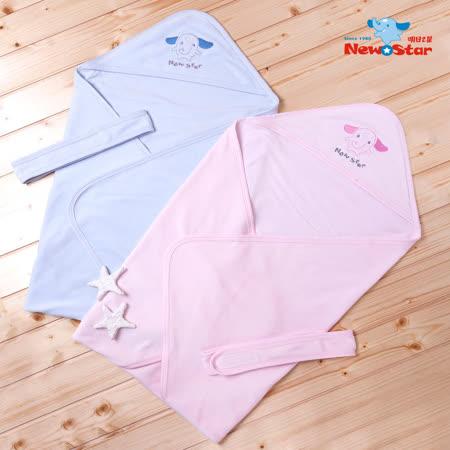 【聖哥-明日之星Newstar】MIT棉絨新生兒嬰兒包巾-溫暖親膚-藍、粉紅-柔軟推薦-外出室內都超適合-真材實料好品質