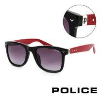 POLICE義大利警察百搭款韓系經典造型太陽眼鏡(黑) POS1804G700R