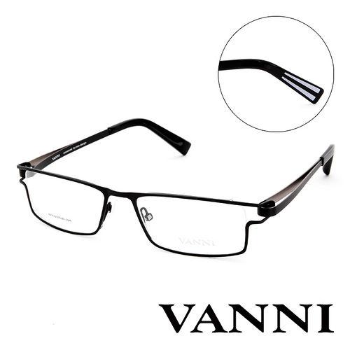 Vanni  輕巧 平光眼鏡 黑  V8306C151