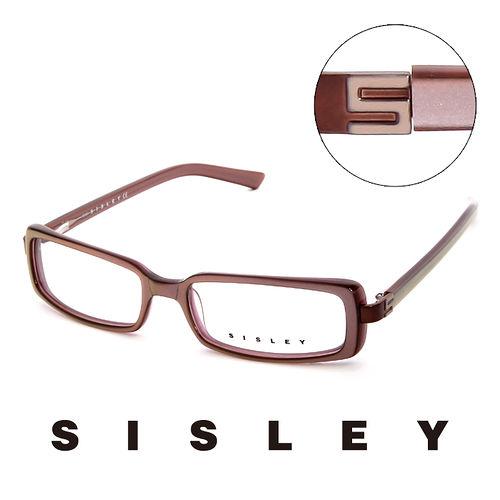 Sisley 法國 希思黎 低調 平光眼鏡 藕  SY02102