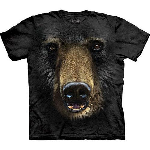 『摩達客』*大 3XL*美國 【The Mountain】自然純棉系列 黑熊臉 黑色 T恤