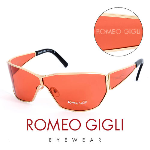 Romeo Gigli 義大利 金框 太陽眼鏡 紅  RG191SA07