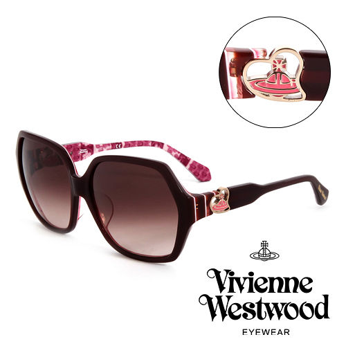 Vivienne Westwood 英國薇薇安魏斯伍德英倫龐克太陽眼鏡 酒紅  VW788
