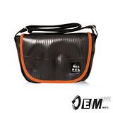 OEM - 輪胎包系列-新製包工藝革命撞色側背郵差包款 - 橘T614-11