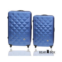 BEAR BOX 晶鑽系列28+24吋ABS霧面行李箱二件組