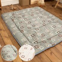 LAMINA  羊毛方塊日式床墊(灰)5CM-單人