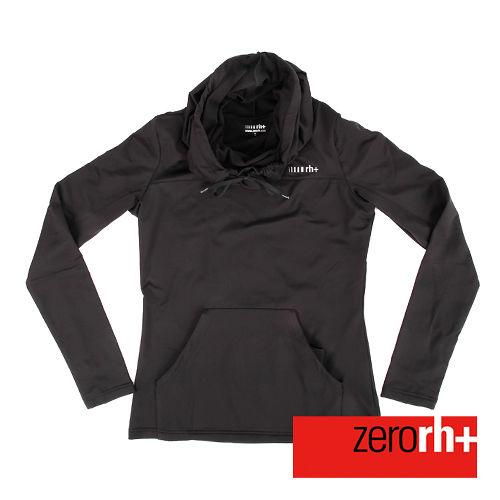 ZERORH  刷毛立領連帽式 休閒衣 女 ~黑色 IWD4121