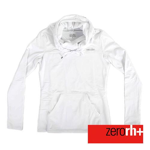 ZERORH  刷毛立領連帽式 休閒衣 女 ~白色 IWD4121