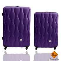 Gate9 波西米亞系列24+20吋ABS霧面行李箱二件組