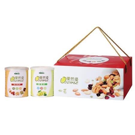 [統一生機]果然優堅葡禮盒(綜合堅果360g+葡萄乾400g)