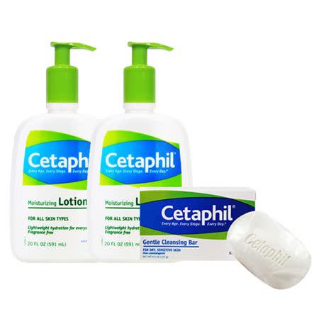 Cetaphil 舒特膚 <br>溫和乳液 591ml (20oz) 兩入組 買就送 溫和潔膚凝脂 127g*1