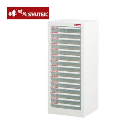 【SHUTER】A4-115P 十五層單排雪白資料櫃(15低抽)