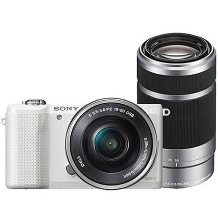 SONY A5000Y含16-50+55-210 (公司貨).-送 64G+原廠鋰電池FW50+專用座充+大吹球清潔組+保護貼+UV保護鏡+原廠相機包