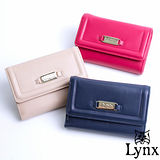 Lynx - 山貓仕女系列優雅款真皮三折式中皮夾-共3色