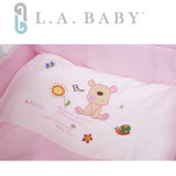 L.A. Baby 美國加州貝比 向日葵花園MIT純棉七件套寢具組- M (藍色/粉色/咖啡色)