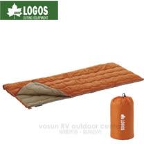【日本LOGOS】長75 ×寬185cm 丸洗睡袋6℃.化纖可機洗睡袋/72600610 橘