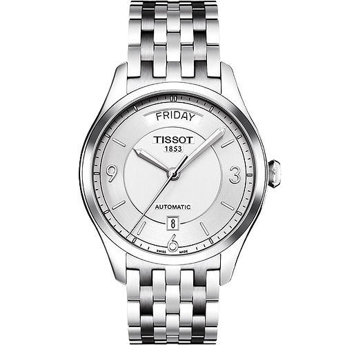 TISSOT T~One Gent 內斂光輝機械腕錶 銀 38mm  T038430110