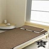 [黎安思-Zean`s] 涼感!和風紙纖蓆-單人套組-含枕套X1 (咖啡色)