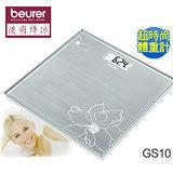 【beurer德國博依】典雅花卉玻璃體重計GS10