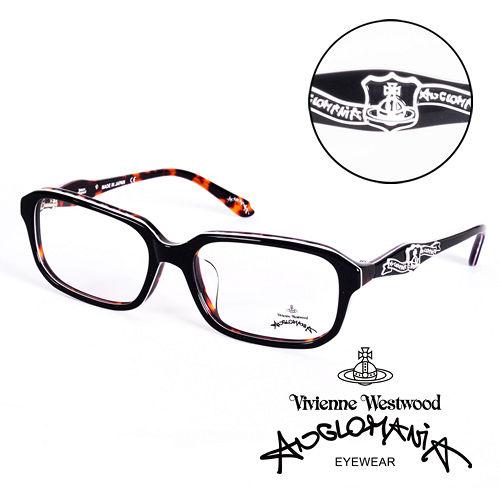 Vivienne Westwood 英國Anglomania英倫龐克徽章光學眼鏡  黑 琥