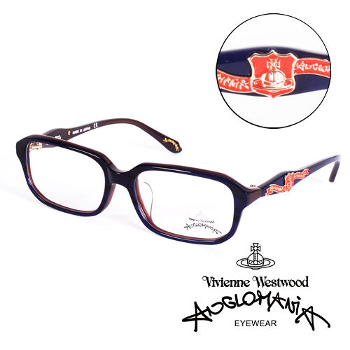 Vivienne Westwood 英國Anglomania英倫龐克徽章光學眼鏡 紫  A