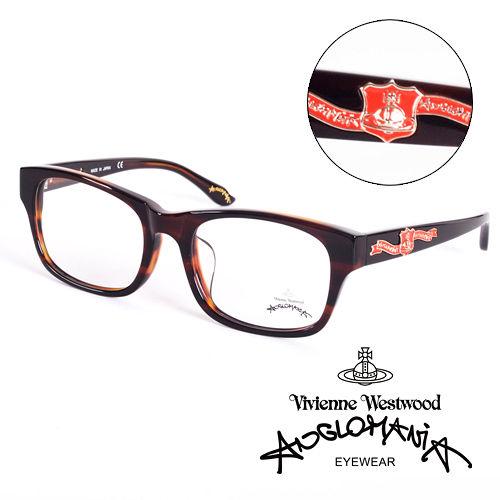 Vivienne Westwood 英國Anglomania英倫龐克徽章光學眼鏡 琥珀 A