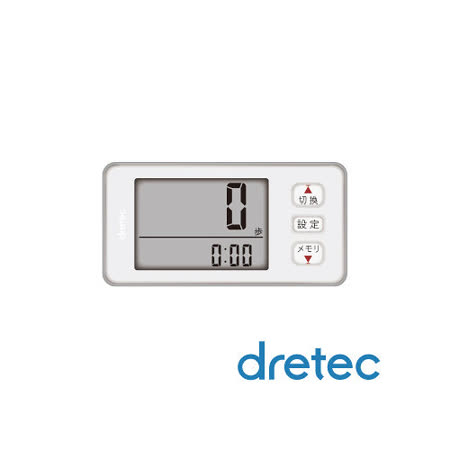 【日本DRETEC】大畫面3D加速計步器-白色