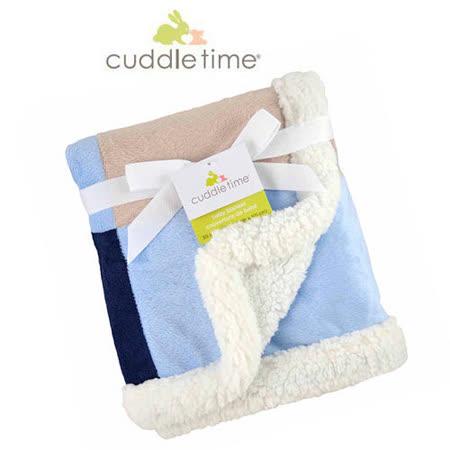 【美国cuddletime】多用途宝宝携带毯-粉蓝拼贴毯